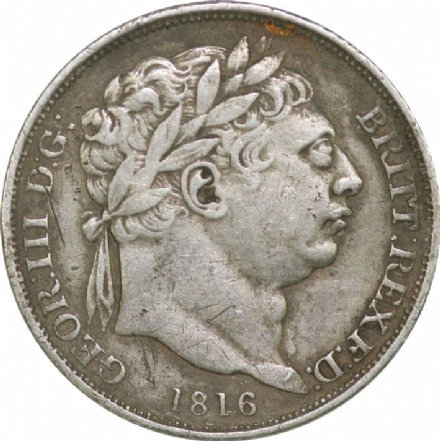 Silver Shilling of George III 1816-1820